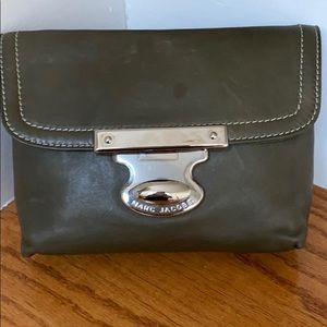 Marc Jacobs Green Leather Pouch